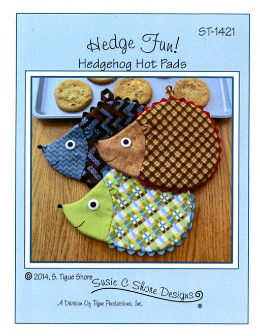 Hedge Fun! - Hedgehog Hot Pad Pattern - by Susie Shore Designs - Mini Pattern #1421 - RebsFabStash