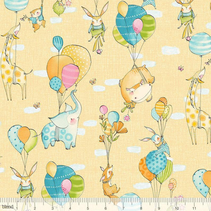 Hello World - Glory Days White - per yard - Good Day! - Cori Dantini - Blend - flags, banners, baby - WHITE - 112.103.04.3 - RebsFabStash