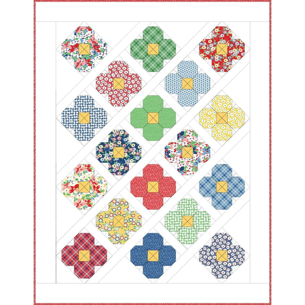 Hi-De-Ho Bloom Quilt Kit - designed by Allison Harris for Maywood - fun bright fabrics with vintage prints! - Beautiful! - RebsFabStash