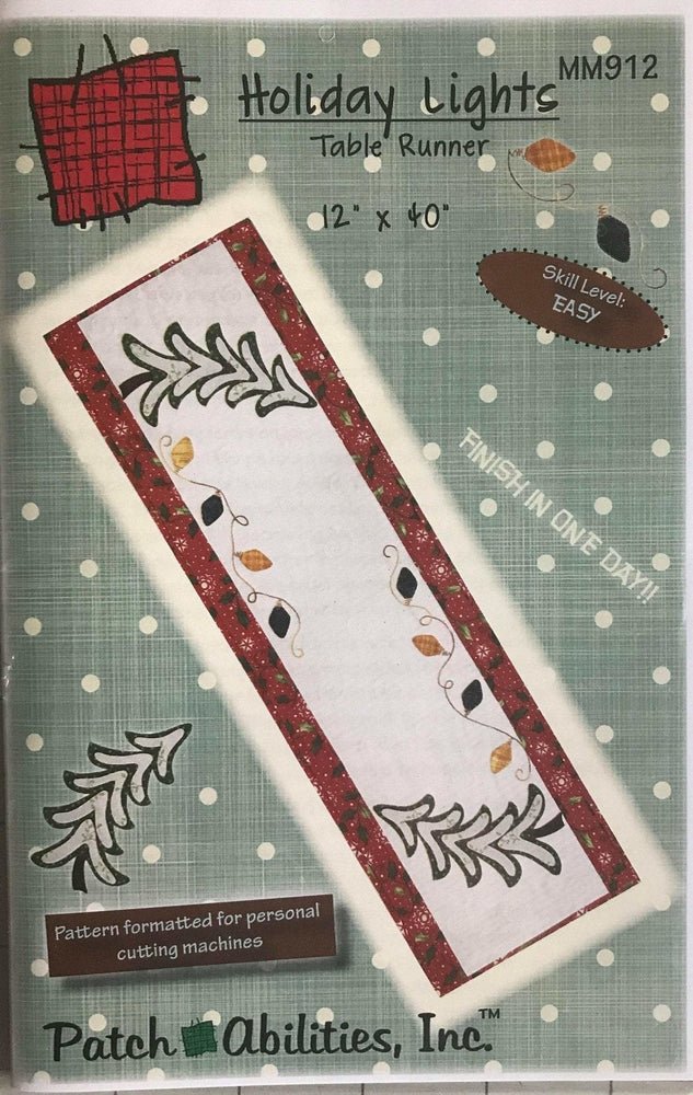 Holiday Lights Table Runner Pattern by Patch Abilities, Inc. Easy Pattern - RebsFabStash