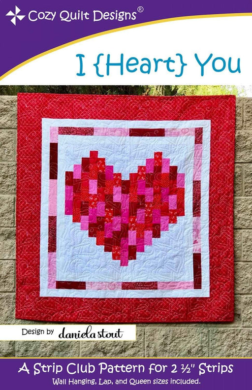 I Heart You - Pattern - Cozy Quilt Designs - by Daniela Stout - RebsFabStash
