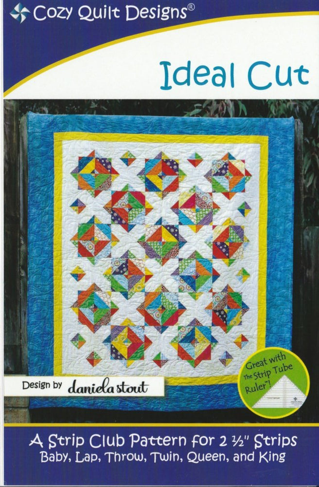 Ideal Cut - Quilt Pattern by Cozy Quilt Designs - Design by Daniela Stout - Strip Club Pattern - RebsFabStash