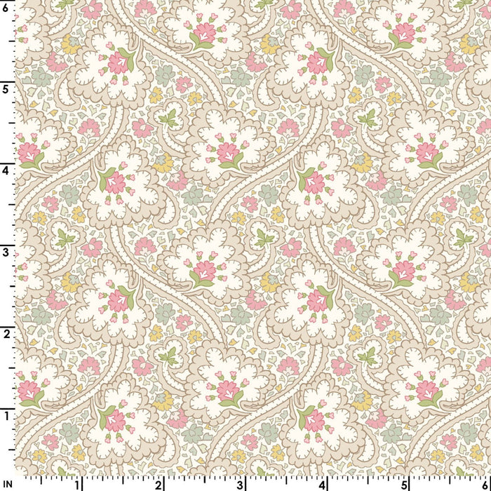 Graceful Moments - Per Yard-  Maywood Studio - cream and pink blender - Love This!