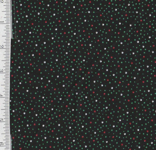 Trimming the Tree - Per Yd - Mary Engelbreit - Quilting Treasures - Dots on Black