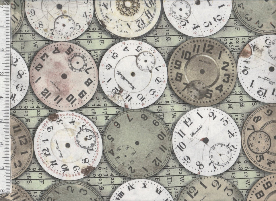 Eclectic Elements - Per Yd - Tim Holtz for Coats and Clark - Timepieces