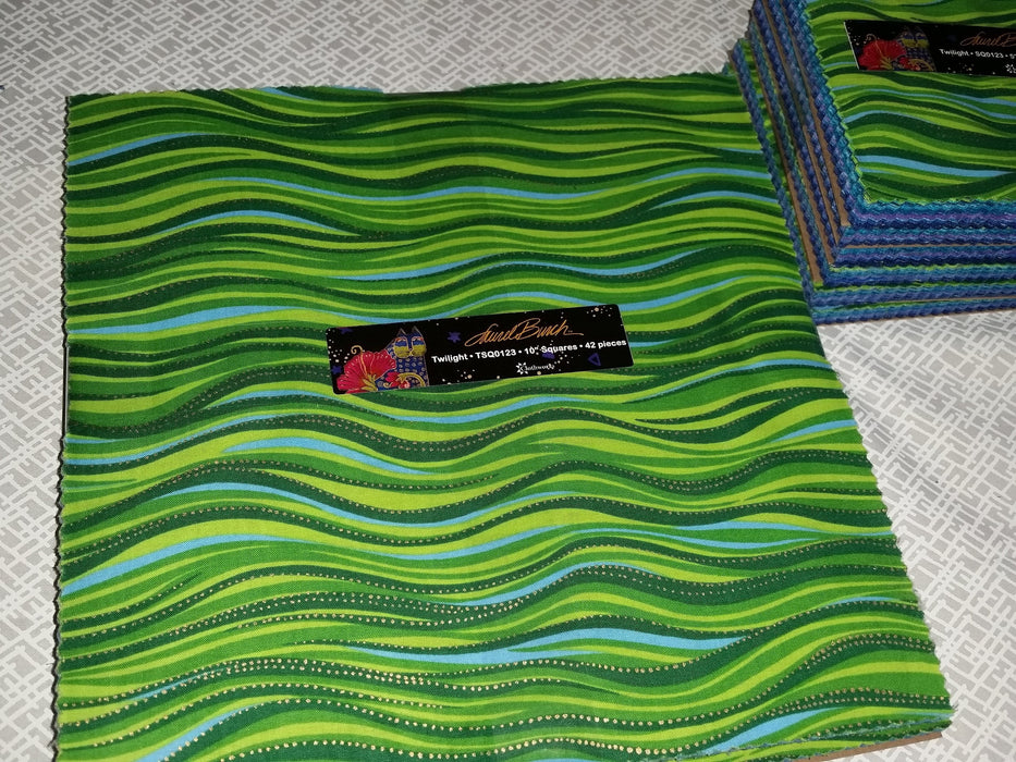 "Laurel Burch - Twilight Layer Cake - Clothworks - 10"" Squares"
