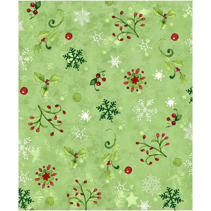Believe in the Season - Per Yd - Clothworks by Sue Zipkin - Multi - Stripe