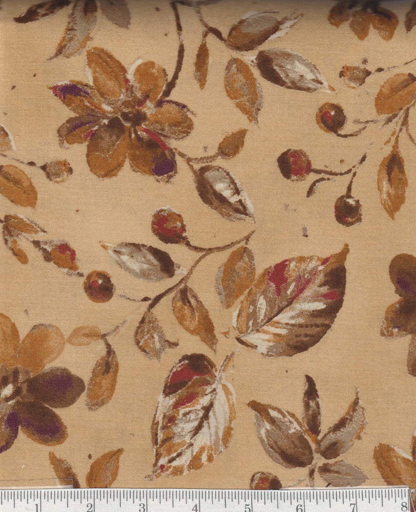 Harvest Home - Per Yd - Maywood Studio - Beautiful Autumn Print