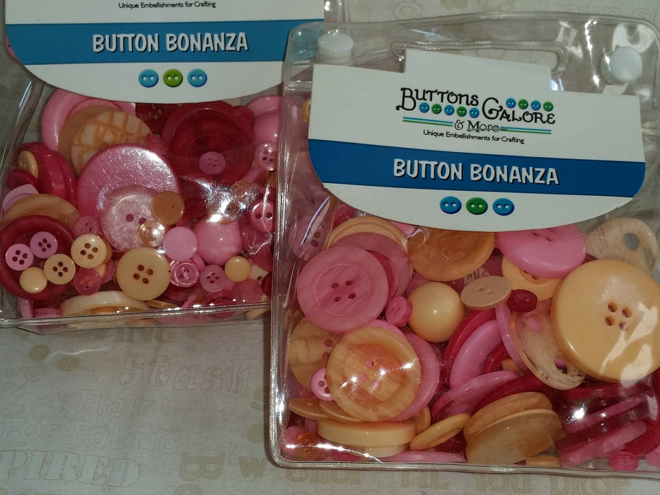 Buttons Galore - Perfect for Embellishment - Vintage Rose