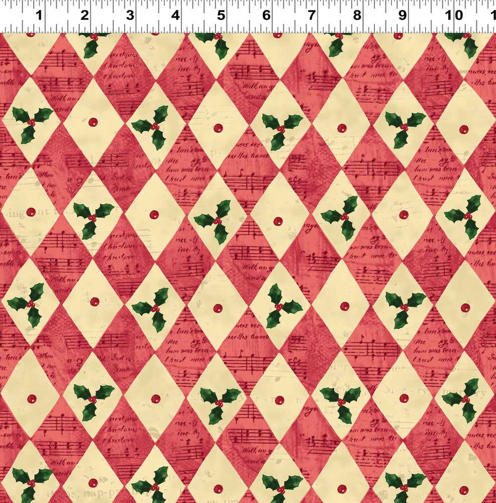 Home for the Holidays - Per Yd - Clothworks by Sue Zipkin - Diamonds and Holly