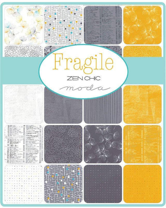 Fragile - Charm Pack - MODA - by Zen Chic - Awesome Colors