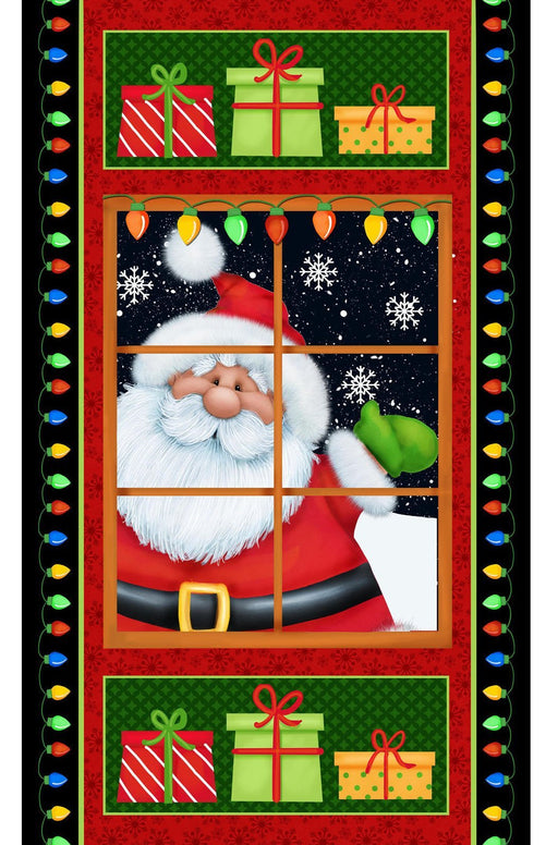 Jolly Ole St Nick - Panel - Henry Glass by Shelly Comiskey - Holiday Cheer!