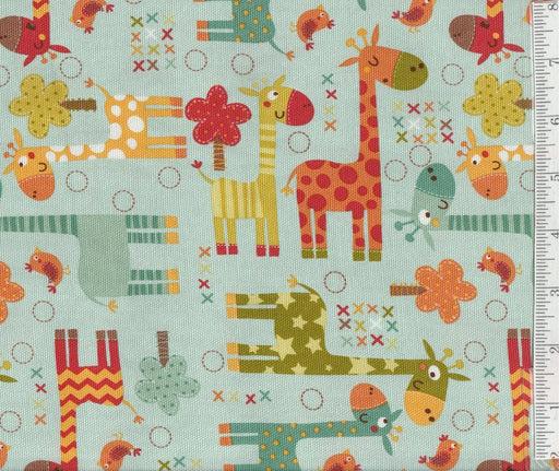 Giraffe Crossing 2 -Heavy Home Decorator Fabric - Per Yd - Riley Blake designs - Giraffes on light Teal or Brown