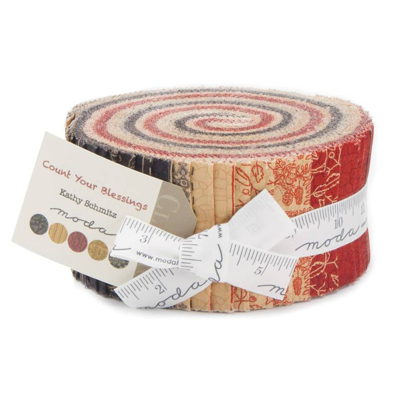"Count Your Blessings - Kathy Schmitz - Jelly Roll (40) 2.5"" strips by MODA  - Lovely Fall fabrics!! Also great stash builder!"