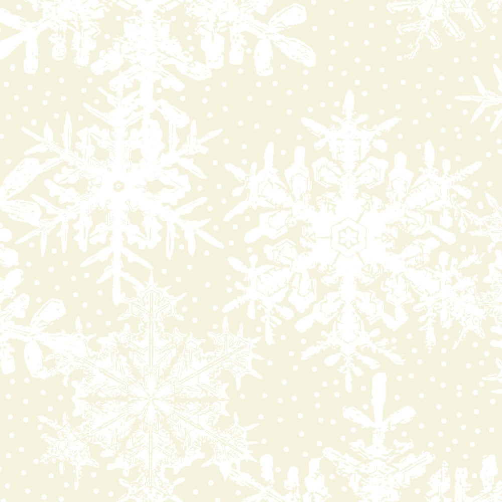 Winter Twist - Per Yard - In the beginning Fabrics by Jason Yenter - Cream Tonal or Blender - Snowflakes on cream 6WT 1