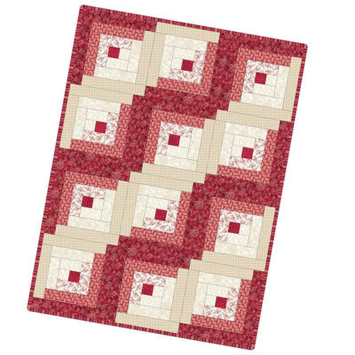 "NEW! The Little Things by Robin Kingsley for Maywood - Precut POD Quilt Kit - 12 Block Log Cabin 29"" x 39"""
