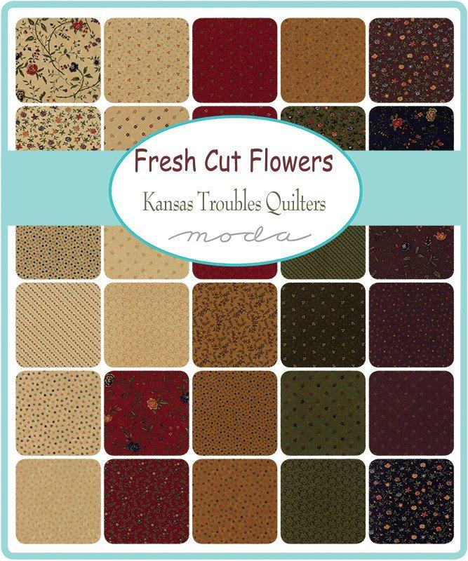 "New! Fresh Cut Flowers - Layer Cake - (42) 10"" Squares - by Kansas Troubles - MODA - Quilting/Sewing Fabric"