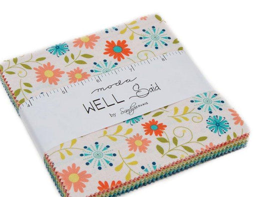 "New! Well Said - Charm Pack - (42) 5"" Squares - by Sandy Gervais - MODA - Quilting/Sewing Fabric - Fabulous Quilt!!"