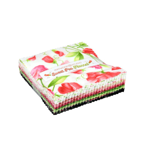 "NEW!! Sweet Pea Flannel by Maywood Studio! - Charm Pack - (42) 5"" squares"