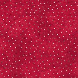 NEW! The Little Things by Robin Kingsley for Maywood - Sold by the yard - Sprinkled Dots - tonal, blender - Ecru dots on Red