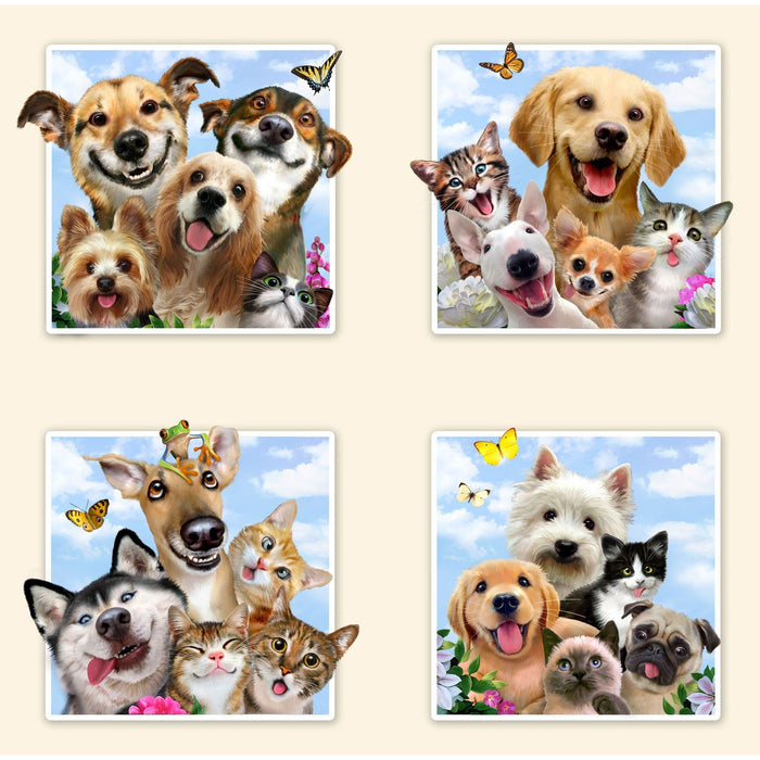 Elizabeth/'s Studio YARD Adorable Pets Packed Puppy Puppies Dog Fabric