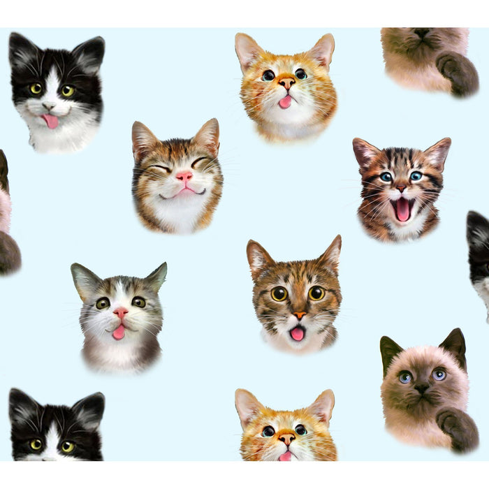 Adorable Pets Collection - per yard- Elizabeth's Studio - Packed cat breeds and kitties