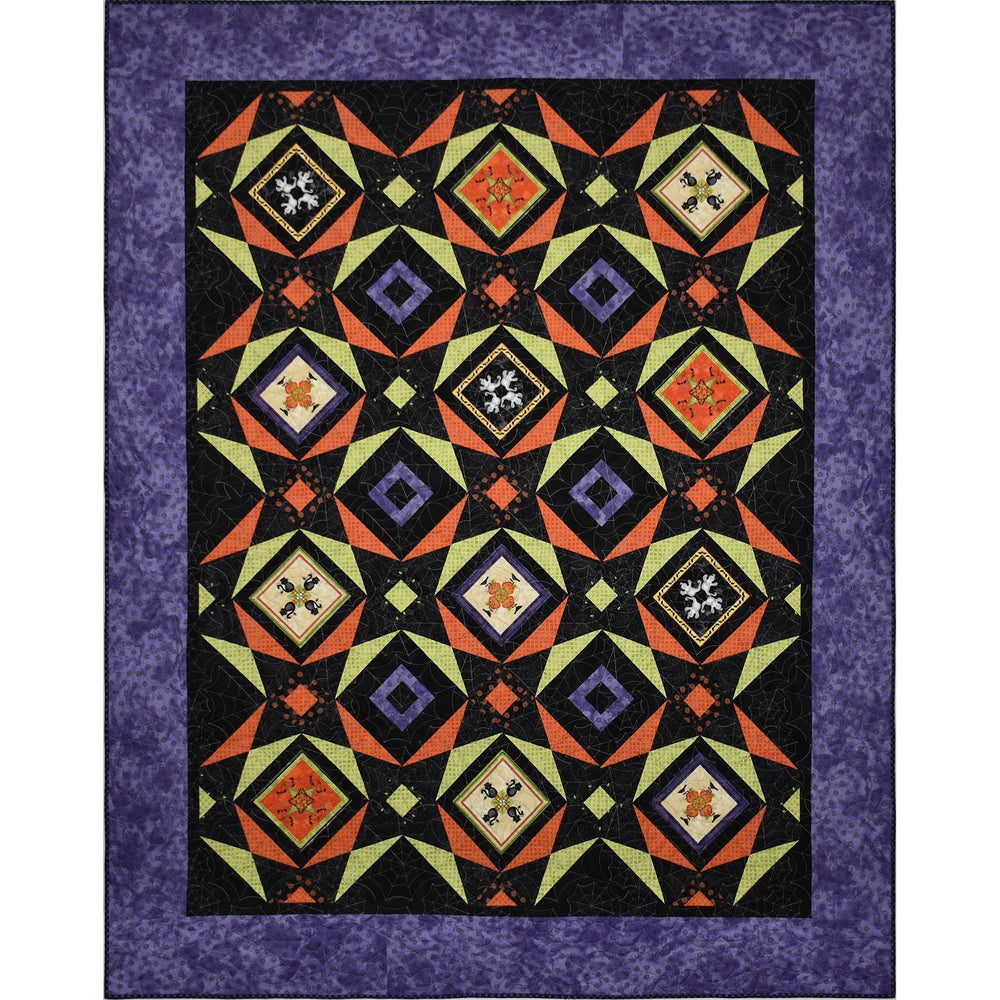Last Ones!  Halloweenie - Spooky Masquerade Quilt Kit -  Maywood Studio -