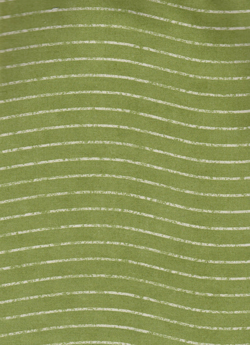 Dear Santa - per yard - white/cream stripe on light green - 1649 - 22621