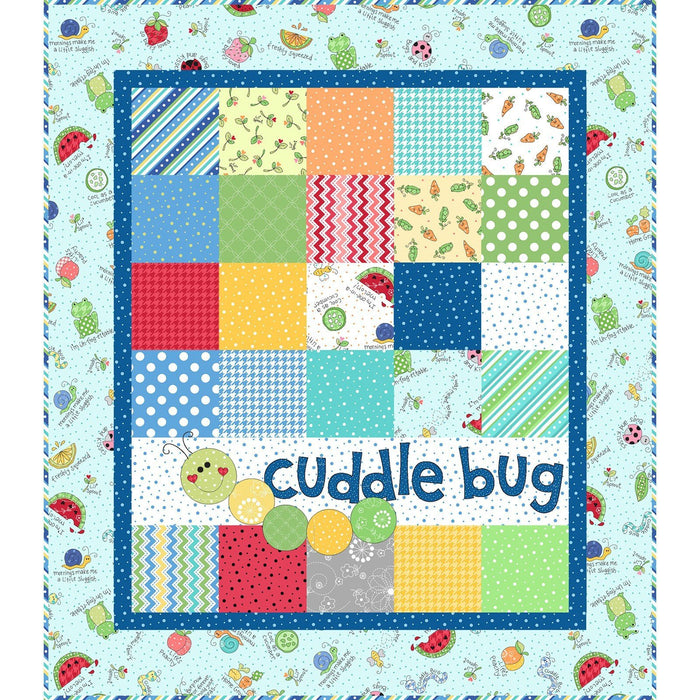 NEW! Cuddle Bug - Lil' Sprout Flannel Too! Blue Quilt Kit - Maywood -Kim  Christopherson -Adorable baby/child flannel! -makes a great gift!
