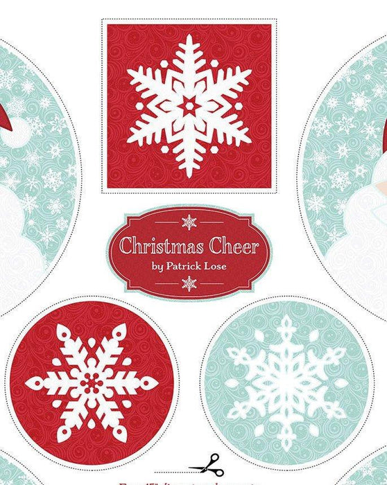 Christmas Cheer - Placemat Panel - Patrick Lose Fabrics - Table topper, trivet, hot pads, wall hangings, or applique on your quilt!