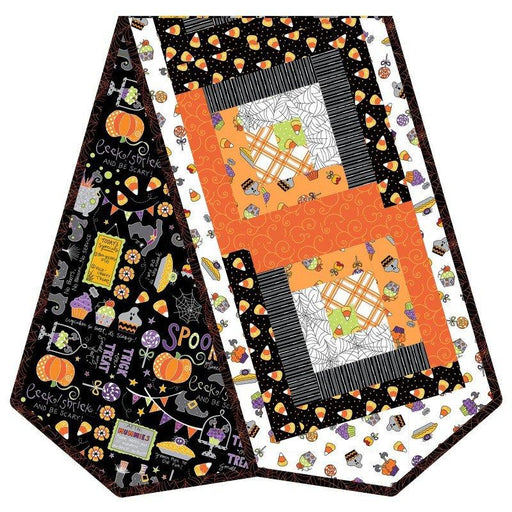 NEW! Broomhilda's Bakery - Log Cabin PRECUT table runner POD Quilt Kit - Maywood -by Kim Christopherson - Kimberbell Designs-Halloween