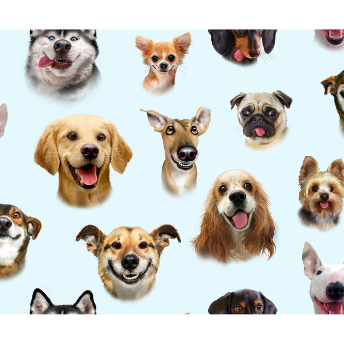 Adorable Pets Collection - per yard- Elizabeth's Studio - Packed Dog breeds and puppies