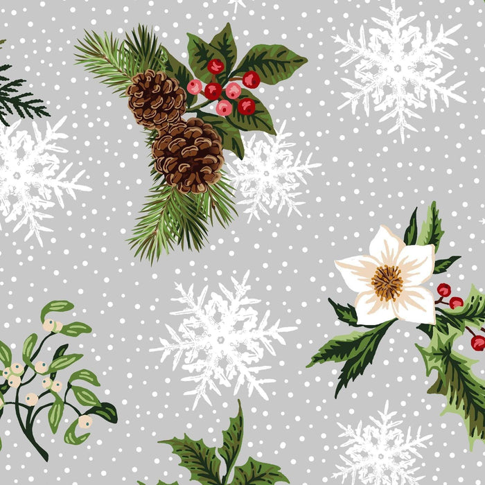 Winter Twist - Per Yard - In the beginning Fabrics by Jason Yenter - Border Print on grey or gray 2WT 3