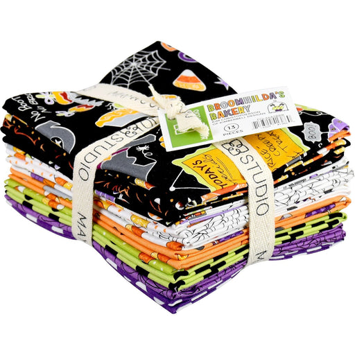 "NEW! Broomhilda's Bakery - Fat Quarter Bundle (13) 18"" x 22"" pieces - Maywood - by Kim Christopherson with Kimberbell Designs -Halloween"