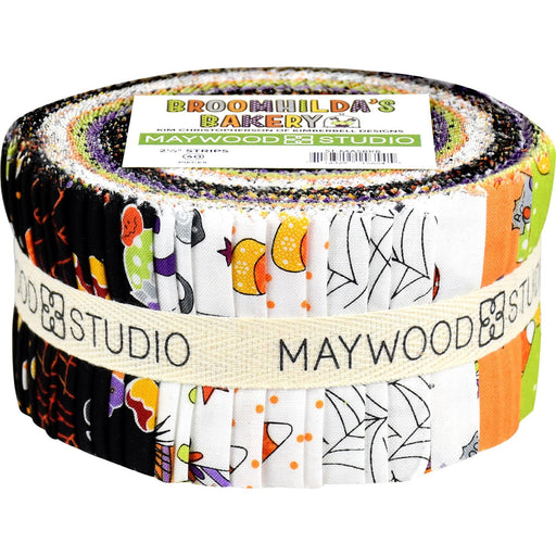 "NEW! Broomhilda's Bakery - (40) 2.5"" Strips - Jelly Roll - Maywood Studio - by Kim Christopherson with Kimberbell Designs - Halloween!"