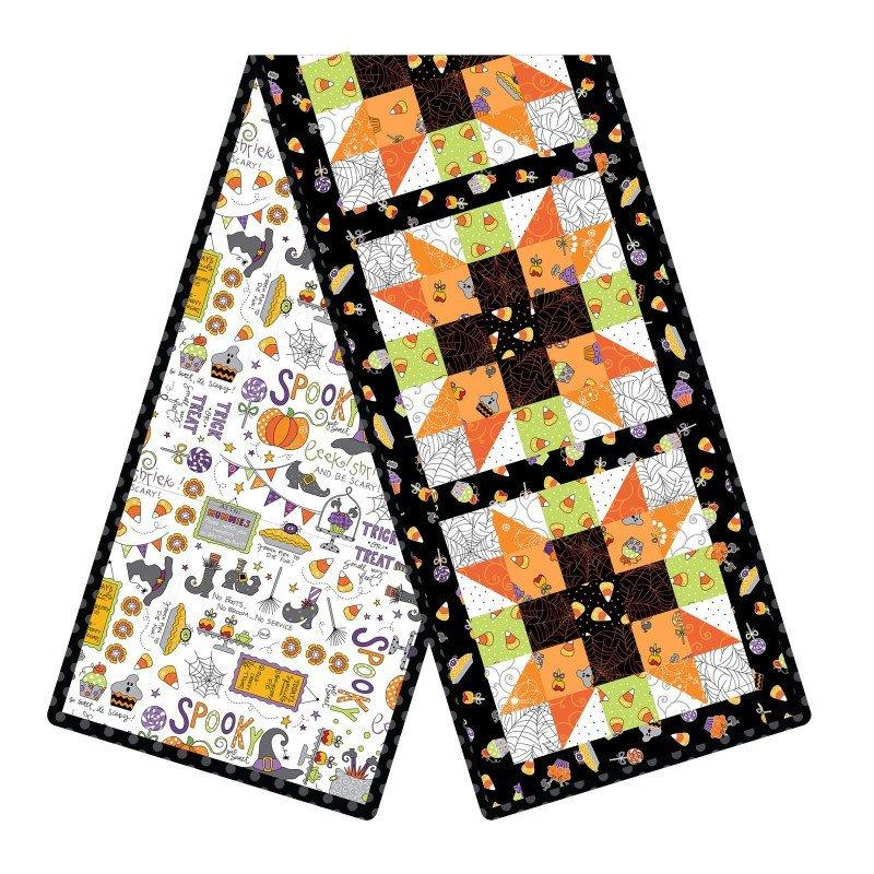 NEW! Broomhilda's Bakery - Sister's Choice PRECUT POD Table Runner Quilt Kit - Maywood -by Kim Christopherson - Kimberbell Designs-Halloween