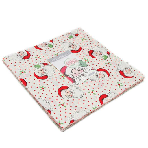 "New! Swell Christmas- Charm pack (42) 5"" squares - Cute Christmas prints! - fabric designed by Urban Chiks for Moda - reds, green, white"