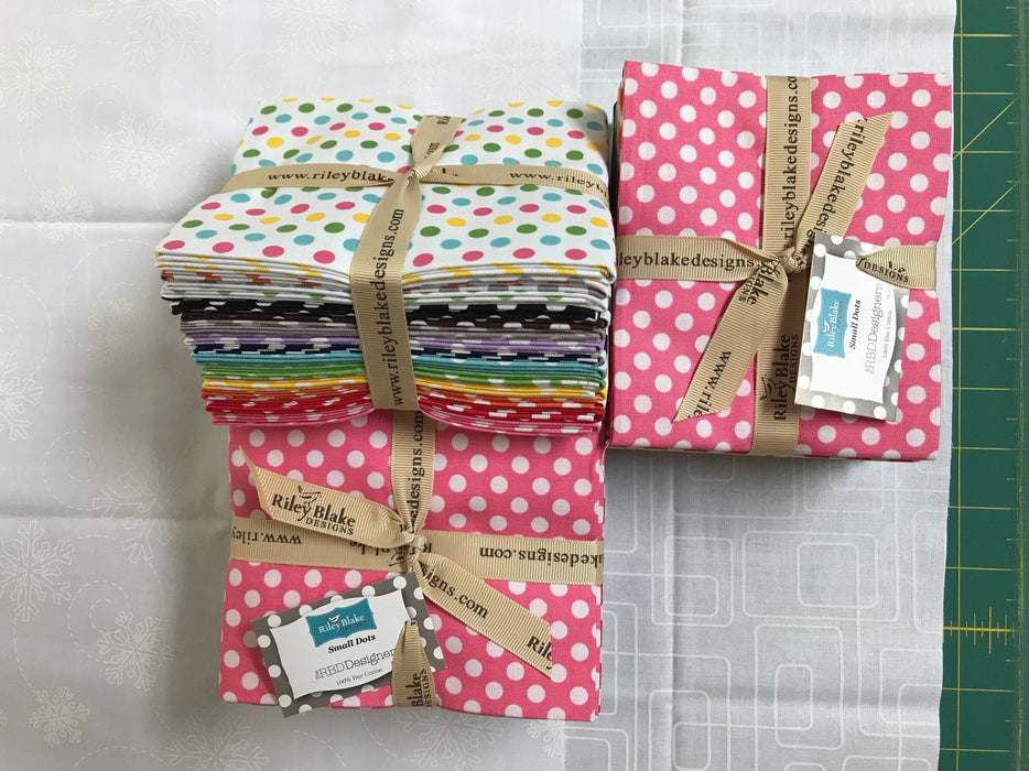 "Small Dots by Riley Blake Designs - Fat Quarter Bundle - (14) 18"" x 22"" pieces"