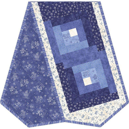 NEW! Roly-Poly Snowmen by Robin Kingsley for Maywood - POD PRECUT Quilt kit - Log Cabin Table Runner Cute snowmen, snowflakes!