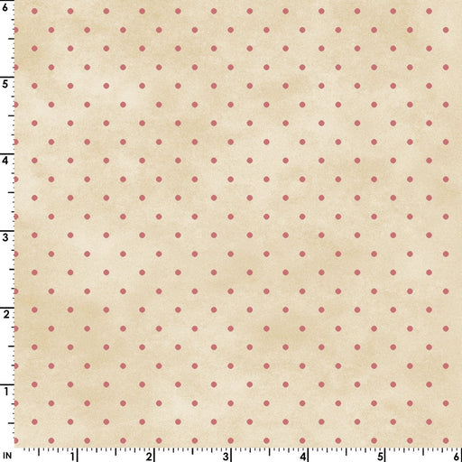 Welcome Home - Collection One - Per yd - Maywood Studio by Jennifer Bosworth- Blue Dots on Pink - MAS 609 ER