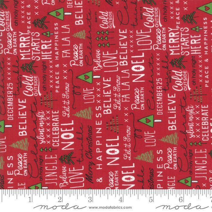 "New! Merry Starts Here - Fat Quarter Bundle (31) 18"" x 21"" pieces - by Sweetwater - MODA - Quilting/Sewing Fabric - Christmas"
