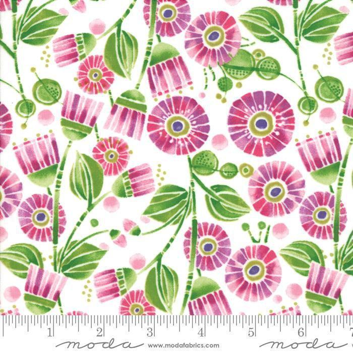 NEW! Sweet Pea & Lily - Per Yard - MODA - Robin Pickens - GORGEOUS!! Weave look - Tonal/blender 48626 37 light pink (Primrose)