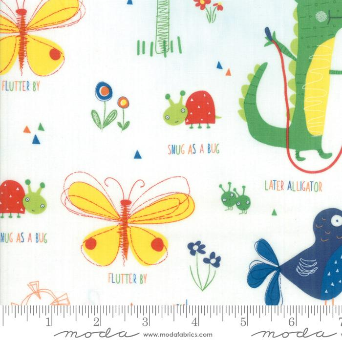 "New! Later Alligator - Layer Cake (42) 10"" squares - by Sandy Gervais - MODA - Quilting/Sewing Fabric - Fabulous Juvenile colors and prints!!"