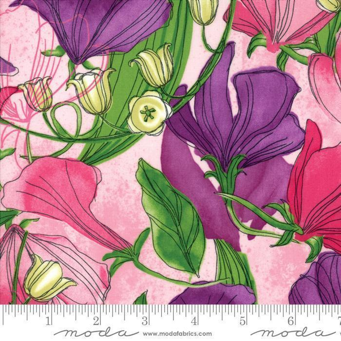 NEW! Sweet Pea & Lily - Per Yard - MODA - Robin Pickens - GORGEOUS!! Weave look - Tonal/blender 48626 33 medium purple (Aster)