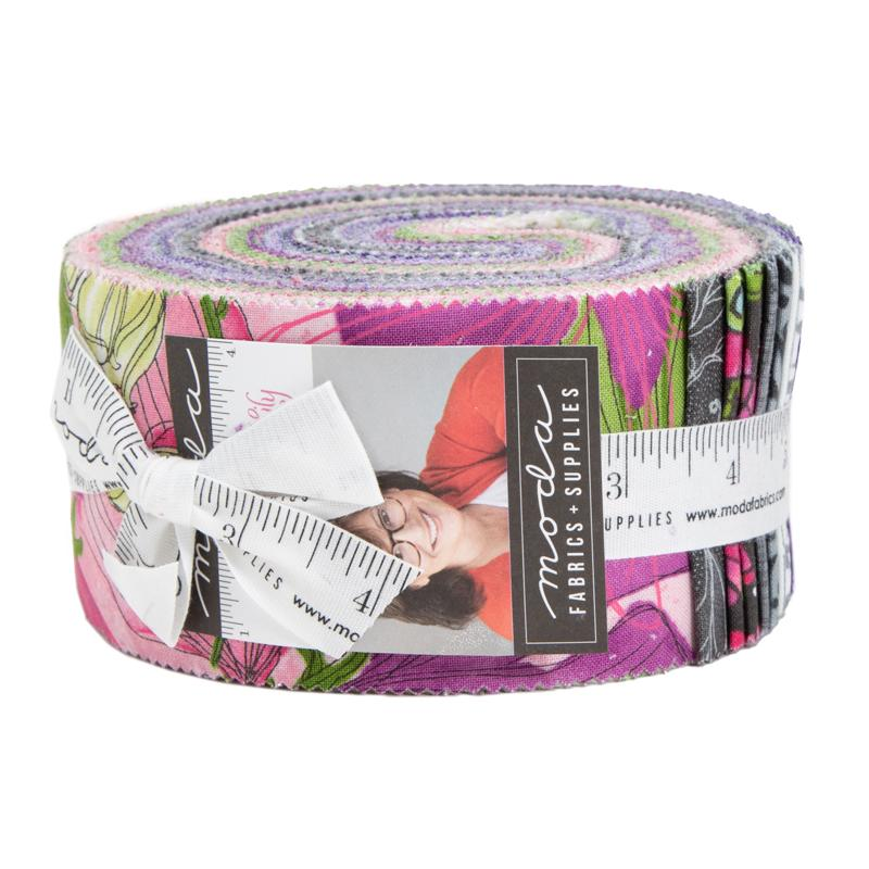 "Sweet Pea & Lily - Jelly Roll - MODA - by Robin Pickens (40) 2.5"" strips - GORGEOUS!!"