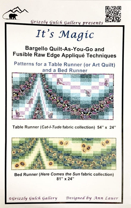It's Magic by Ann Lauer - Table Runner or Bed Runner quilt pattern from Grizzly Gulch Gallery - Bargello quilt pattern - RebsFabStash