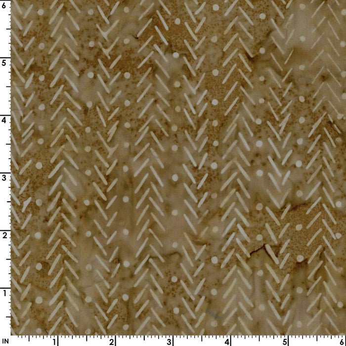 Java Batiks - by Maywood - per yard - MASB09 - 020 - Light Brown Herringbone or Chevron design - RebsFabStash