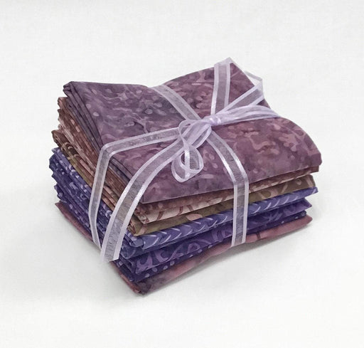 "Java Batiks - Majestic Mountain - PROMO Fat Quarter Bundle - (9) 18"" x 21"" pieces - by Maywood - purple, mauve, rose - RebsFabStash"