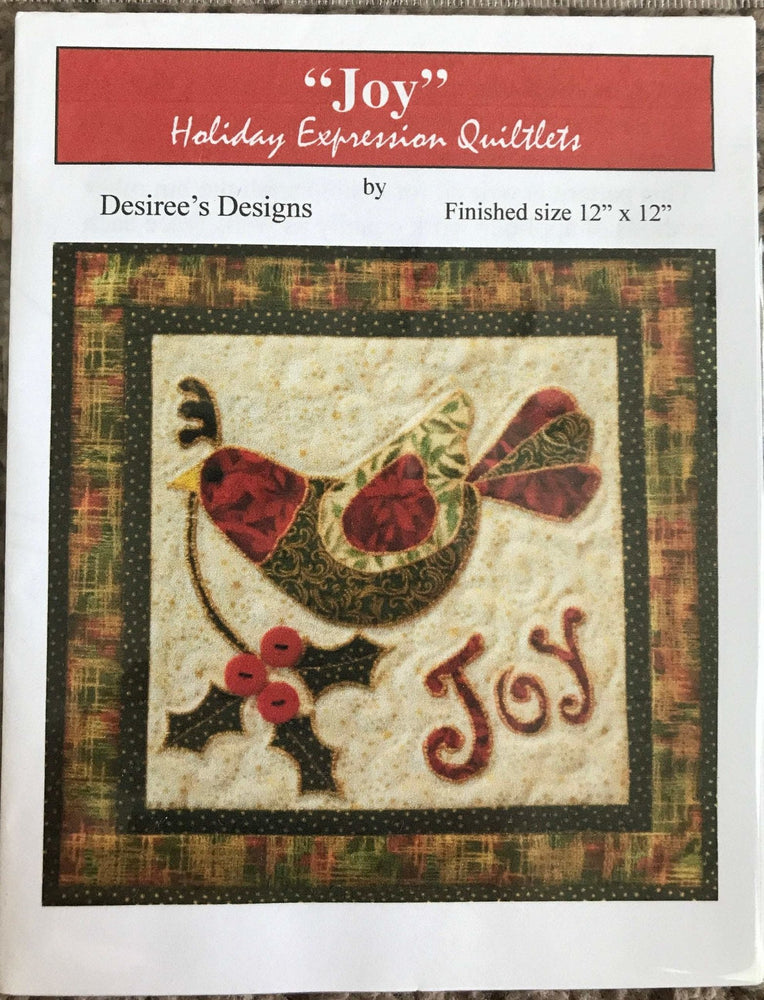 "Joy - Holiday Expression Quiltlets - by Desiree's Designs - Finished size 12"" x 12"" - RebsFabStash"