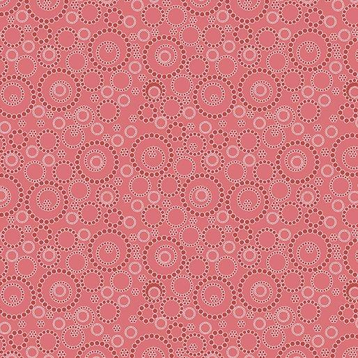 Kitchen Love - per yard - Contempo by Benartex - by Cherry Guidry - white and coral circles on coral (called light red by Benartex) - RebsFabStash